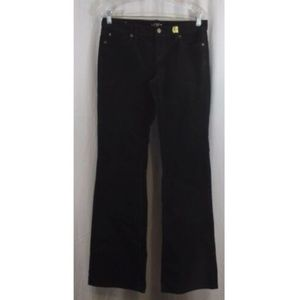 LOFT Black Curvy Boot Cut Corduroy Pants 4